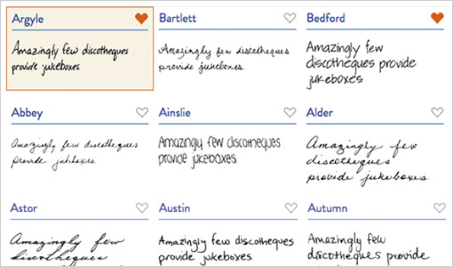 digital handwriting examples